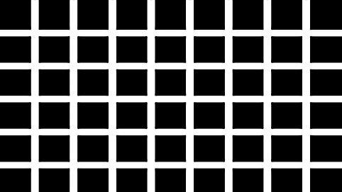Hermanngitter eine optische Illusion